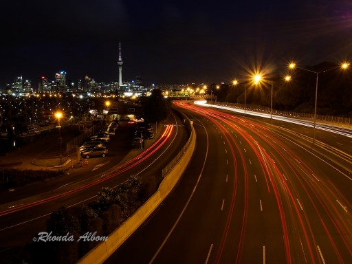 night lights of Auckland