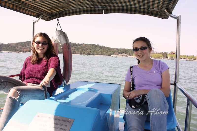 Paddle Boats at Summer Palace in Beijing