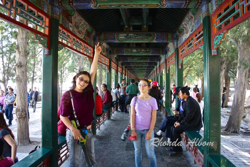 world's longest painted corridor at Summer Palace in Beijing China