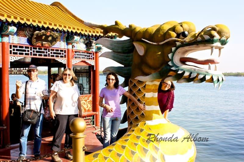 Dragon Boat at Summer Palace in Beijing China
