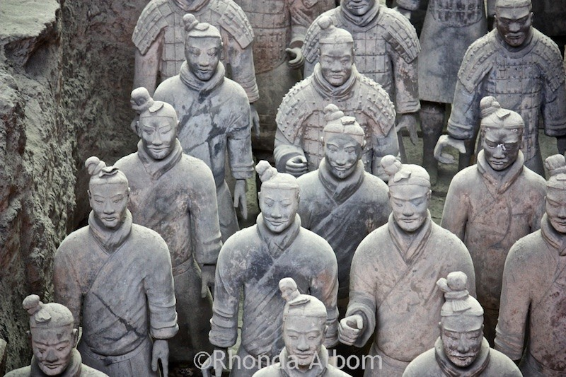 what did the terra cotta warriors The site was soon identified as the burial place of emperor qin, and  each  soldier in the terra cotta army has distinct facial features.
