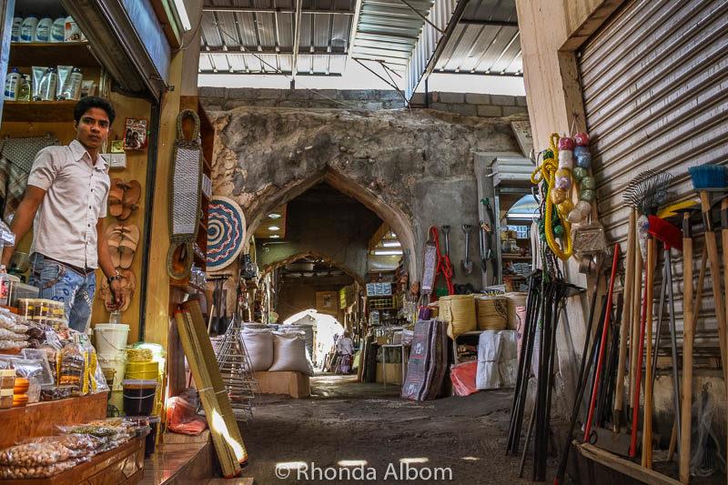 The old souq (marketplace) in Nizwa Oman.