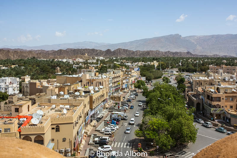 Looking out at the city of Nizwa from the Nizwa Fort in Oman.