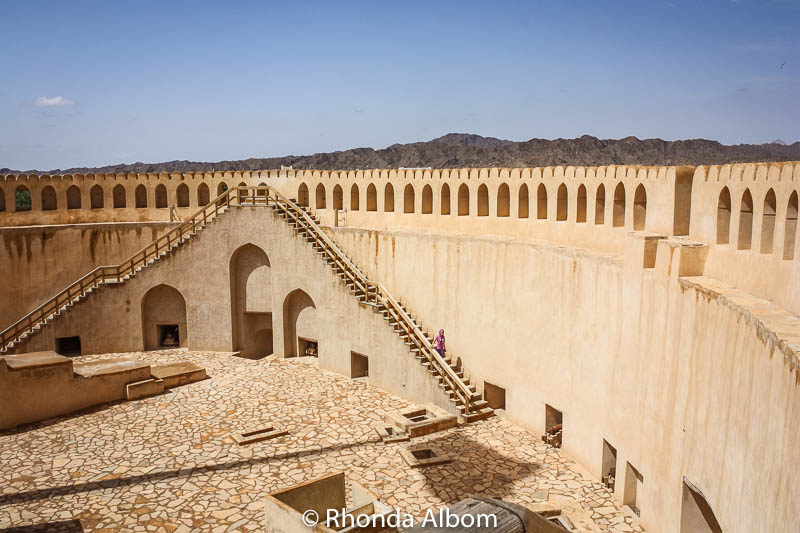 The Nizwa fort tower in Oman