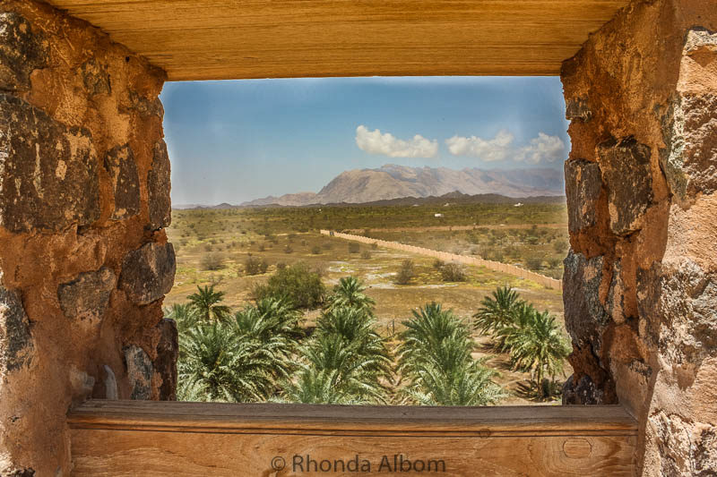 View of the Palm desert from Jabrin Castle in Oman