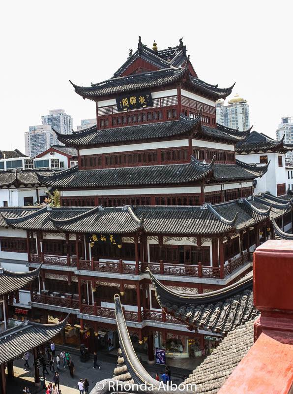 A pagoda in Yu Yuan Garden and Bazaar in Shanghai, China
