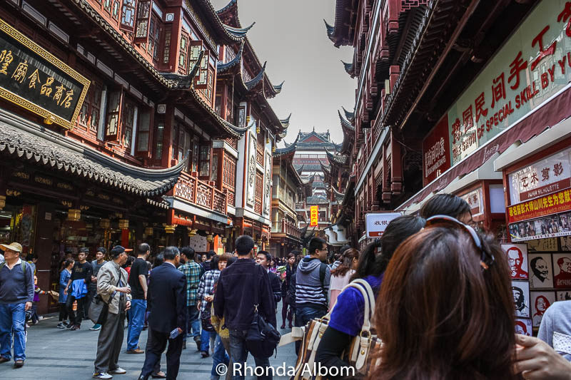 A street for meeting friends, having tea, shopping, gathering or just walking in Shanghai, China