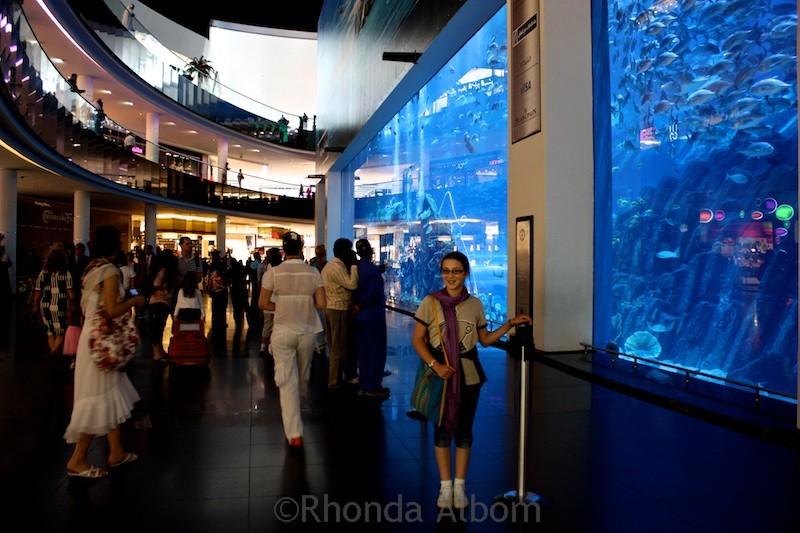 Aquarium inside the Dubai Mall