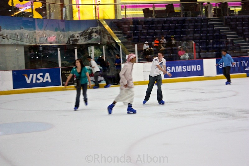 Ice Skating Rink inside the Dubai Mall