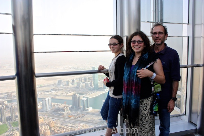 View from the top of the Burj Khalifa the worlds tallest building in UAE