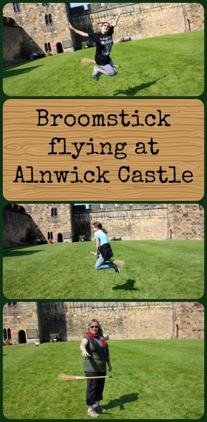 Broomstick flying at Alnwick Castle - to read more visit Albom Adventures