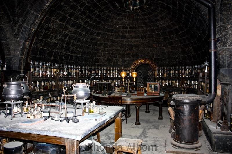 Potions class - Harry Potter Studio tour, London. For more information visit Albom Adventures
