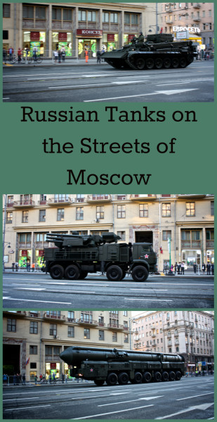Russian Tanks driving the streets of Moscow, Russia - for more information visit Albom Adventures