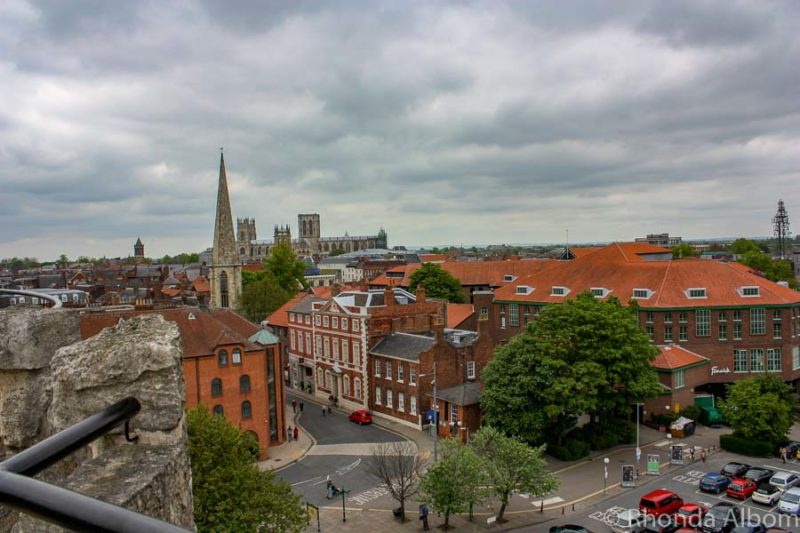 View of the city of York from Clifford's Tower