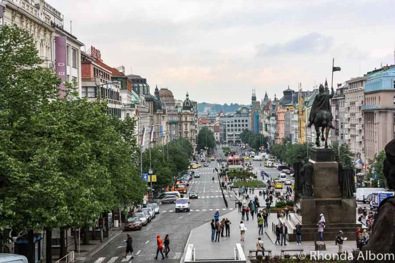 Wenceslas Square in Prague Czech Republic