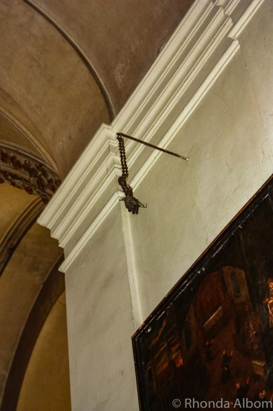 Severed hand in St James Cathedral in Prague, Czech Republic