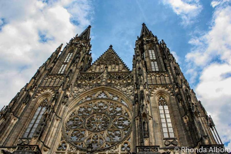 A church inside the gates of the Prague Castle in the Czech Republic