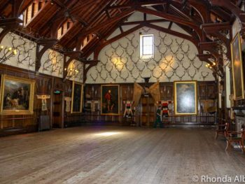 Ballroom of Blair Castle in Scottish Highlands
