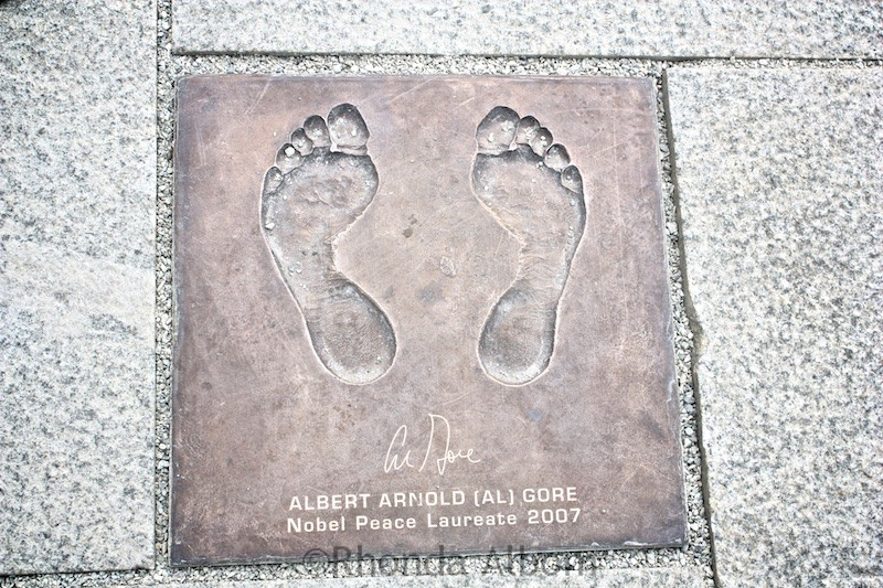 This is Al Gore's footprints from his 2007 Nobel Peace Prize in Stavanger Norway