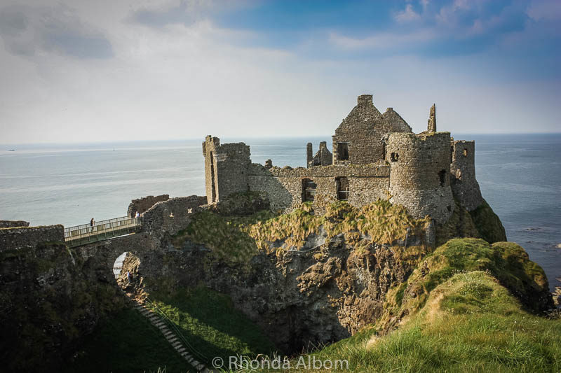 Dunluce Castle ruins in Northern Island is now used in Game of Thrones