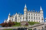 Dunrobin Castle seen while driving around Scotland