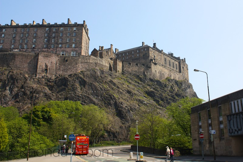 Looking up at Edinburgh Castle, Scotland
