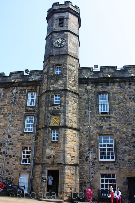 Tower which holds the crown jewels at Edinburgh Castle