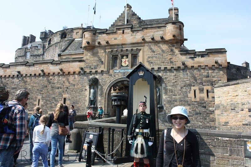 Traditional Guards outside Edinburgh Castle
