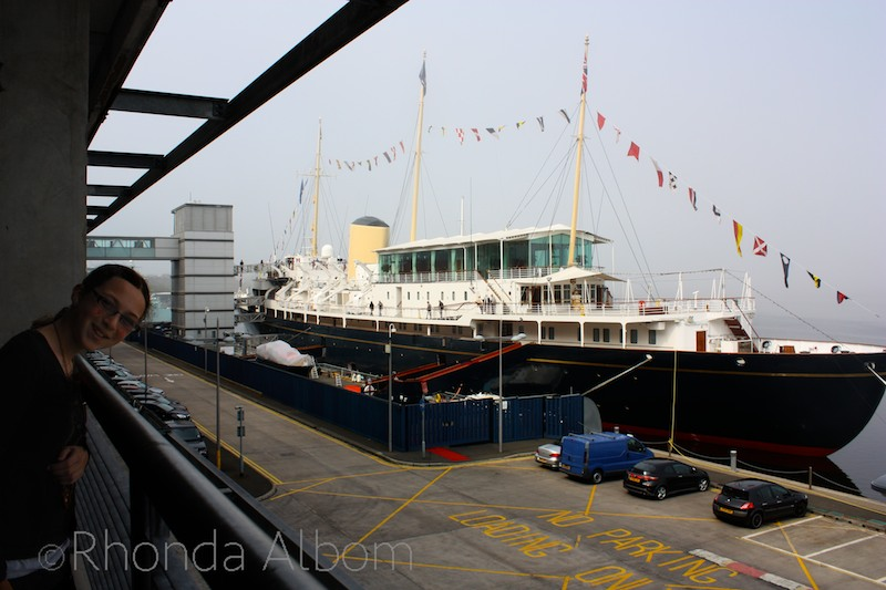 The Royal Britannia - the Queen's yacht docked in Edinburgh, Scotland