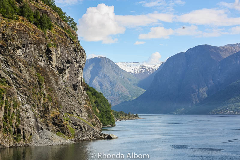 Flam Norway shot from the cruise ship