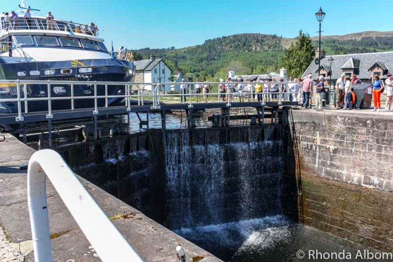 Fort Augustus Locks are a stop on our Scotland itinerary
