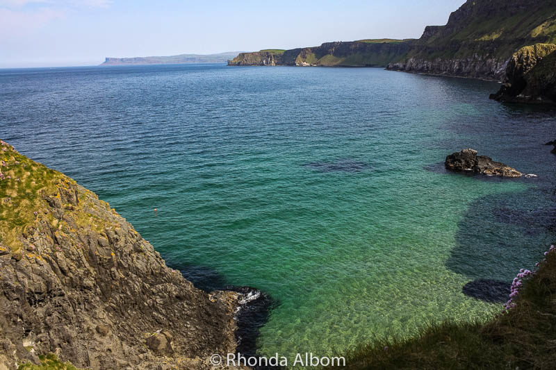 View from Carrick A Rede Rope Bridge in Northern Ireland