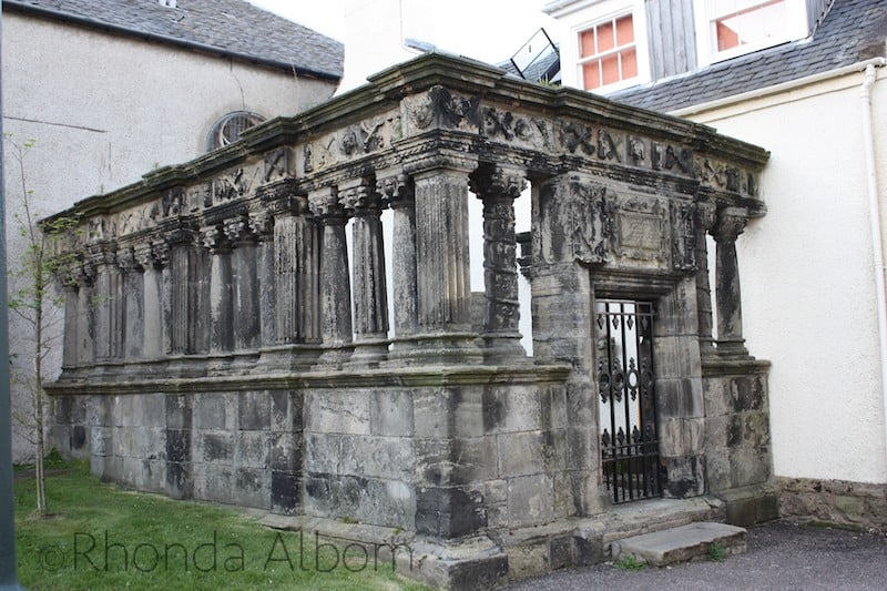 A tomb in Inverness Scotland