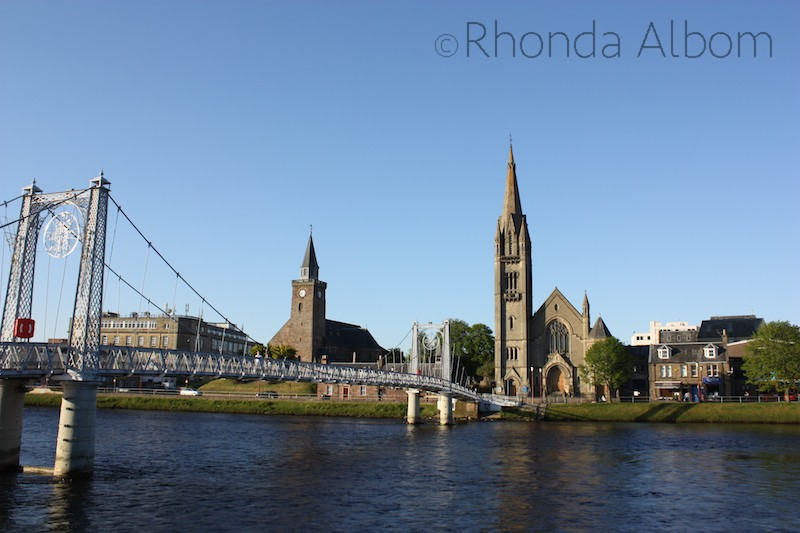 A bridge over the River Ness in Inverness Scotland