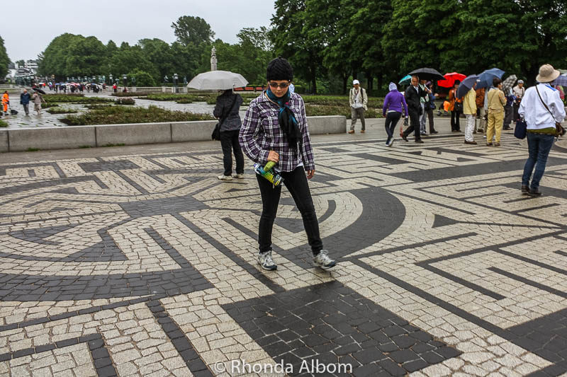 Maze in Vigeland Sculpture Park in Oslo Norway