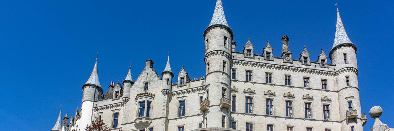 Dunrobin Castle on a Scotland road trip