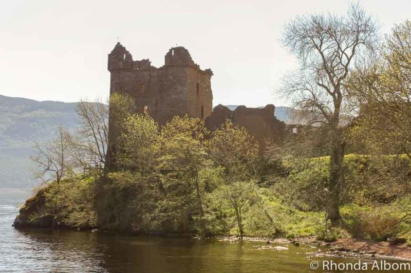 Urequardt Castle Ruins on Loch Ness, Scotland