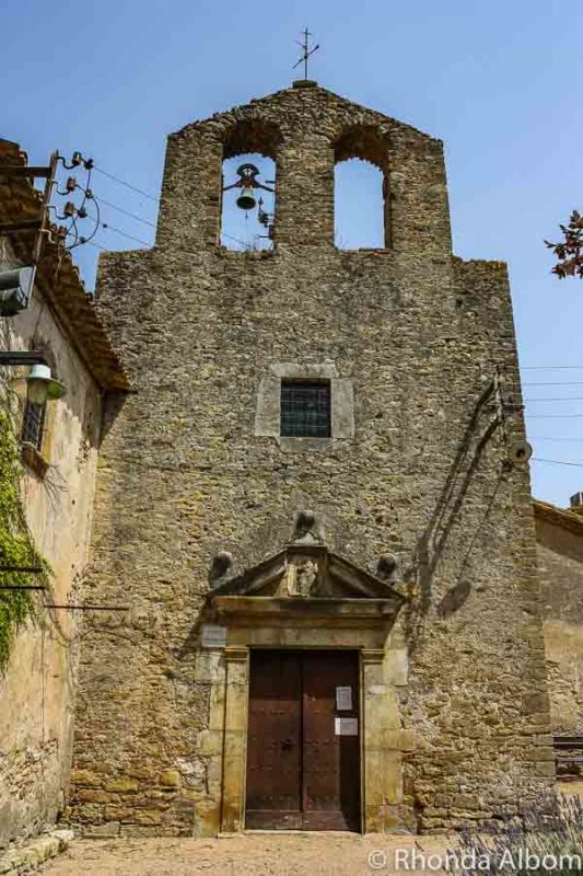 Well preserved 11-Century Romanesque church in Fontclara, one of the many medieval towns in Catalonia.
