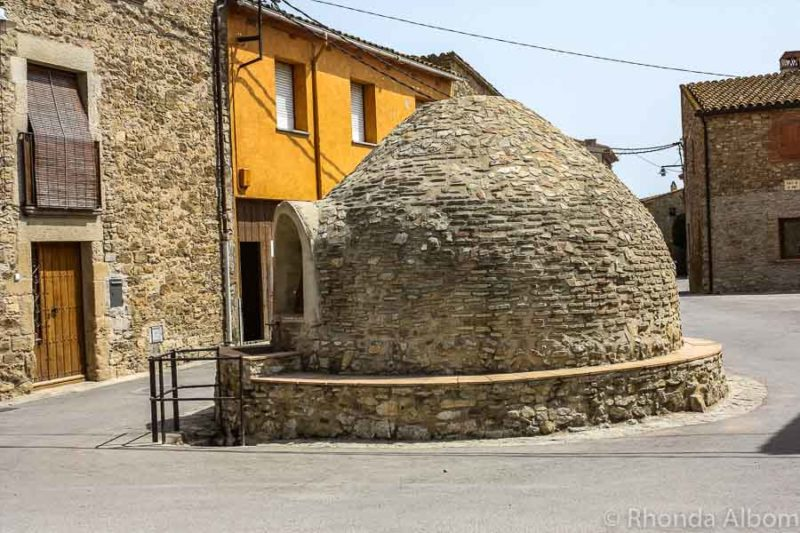 Giant igloo or pizza oven in Palau Sator in Costa Brava Spain