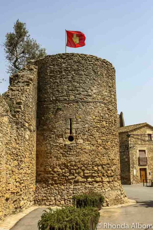Castle Tower in Palau Sator in Costa Brava Spain
