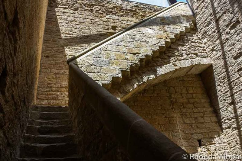 Inside the medieval castle in Bisbal D'Emporda in Costa Brava Spain
