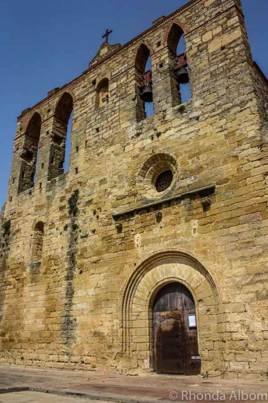 13th century Romanesque church in Peratallada, Spain