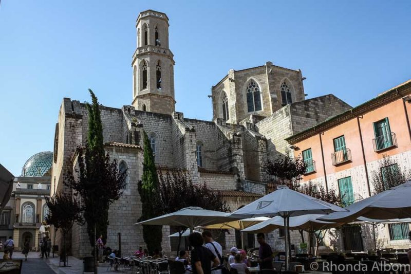 Isglsia De Sant Pere in Figueres, Spain, the medieval church that Salvador Dali was baptized in as a boy.
