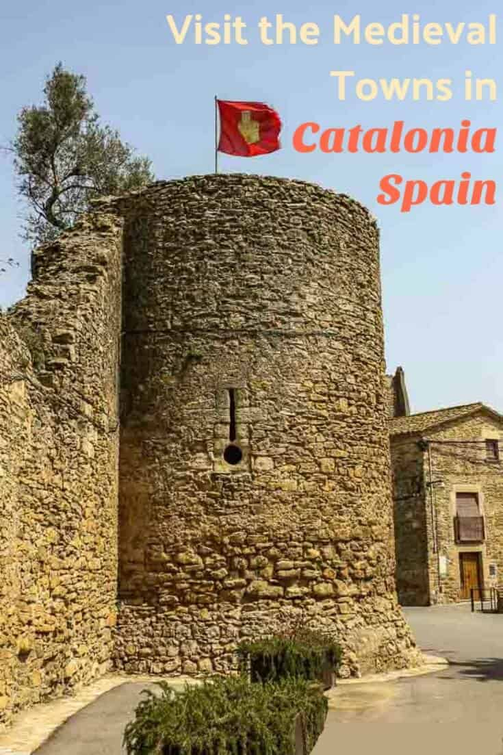 An itinerary and photo tour of 9 charming medieval towns in Catalonia Spain, most built in the 11 - 14th centuries, plus Figueres for the Dali museum.  Check out the article for more images and history. #travel #europe #spain #catalonia #medieval