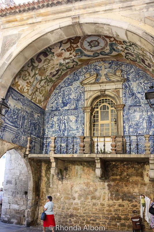Porta de Vila is the main pedestrian gate into Obidos Portugal