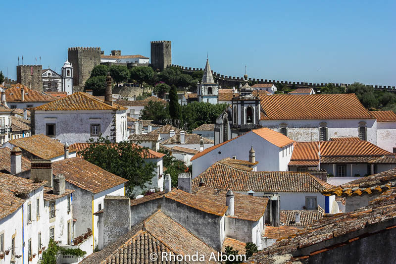City Wall in Obidos, Portugal