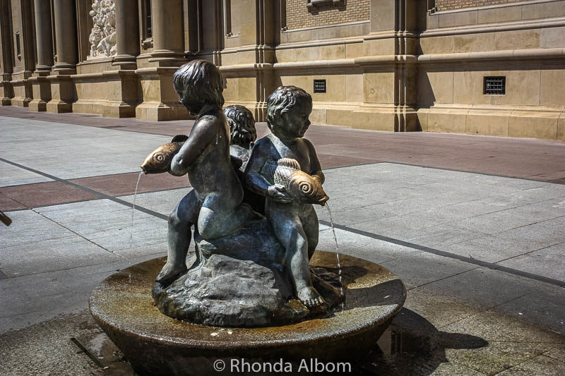 Fountain in Saragossa Spain