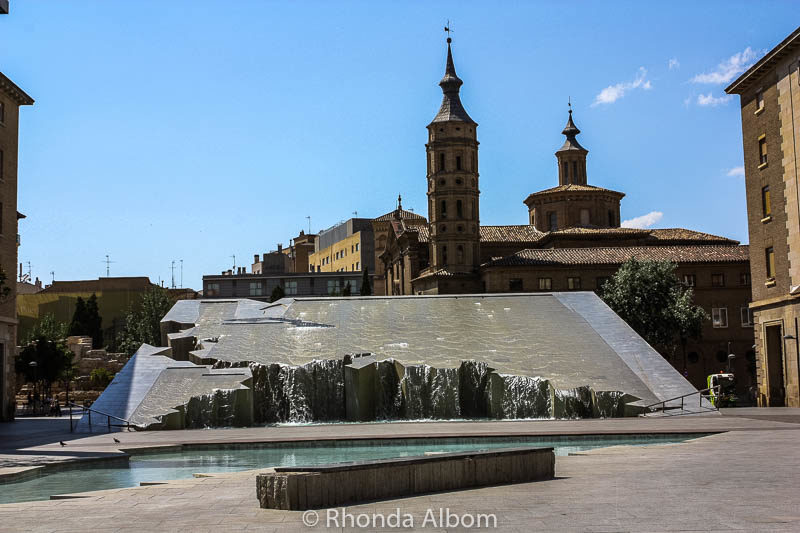 Fountain of the Hispanidad in Saragossa Spain