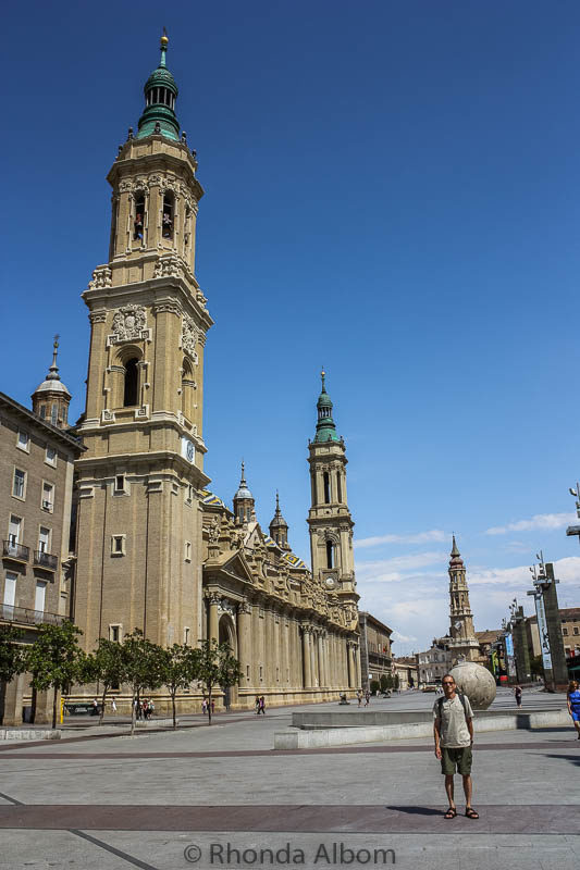 Plaza del Pillar in Saragossa Spain