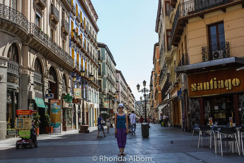 Restaurants and shops in Saragossa Spain